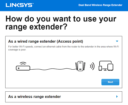 Linksys extender setup re6300